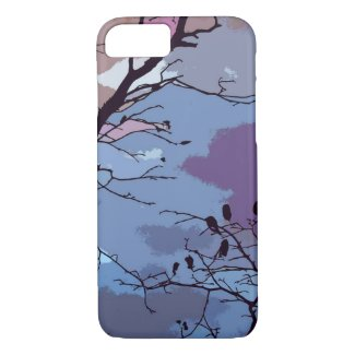 Blue and Purple Sunset Abstract iPhone 7 Case