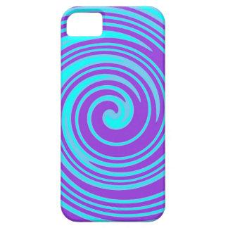 Blue and purple swirl pattern iphone case