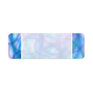 Blue and Purple Swirls Pattern. Label