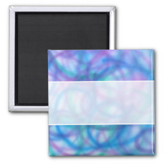 Blue and Purple Swirls Pattern. 2 Inch Square Magnet