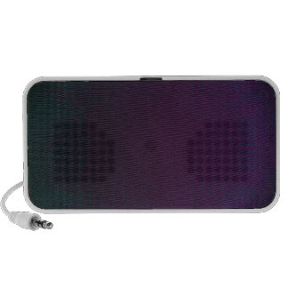 Blue and purple techno iPod speakers