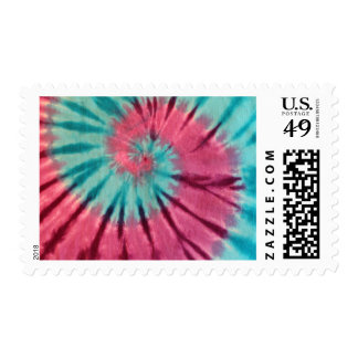 Blue and Purple Tie Dye Postage Stamp!