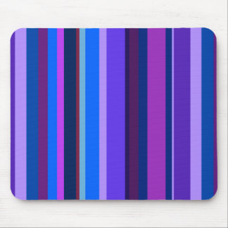 Blue and purple vertical stripes mouse pad