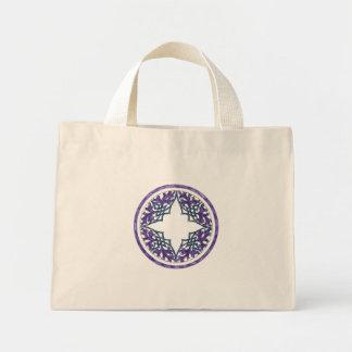 Blue and Purple Victorian Celtic ish Ornament Canvas Bag