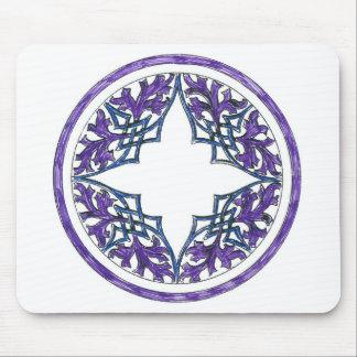 Blue and Purple Victorian Celtic ish Ornament Mousepad