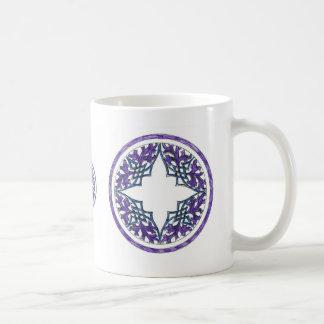 Blue and Purple Victorian Celtic ish Ornament Classic White Coffee Mug