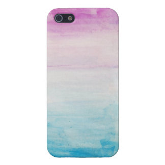 Blue and Purple Watercolor iPhone 5 Case