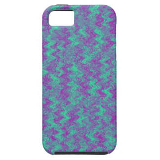Blue and Purple Waves iPhone Case