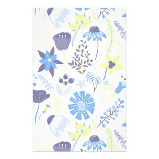Blue and Purple Wildflowers Stationery