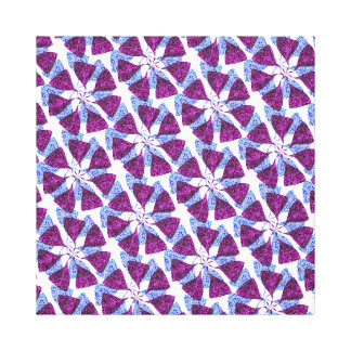 Blue and Purple Winter Snowflake Pattern Pinwheel Gallery Wrap Canvas
