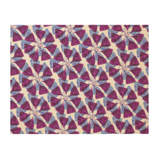 Blue and Purple Winter Snowflake Pattern Pinwheel Wood Canvases