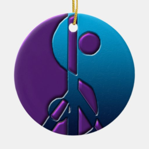 blue and purple yinyang peace sign ornament zazzle