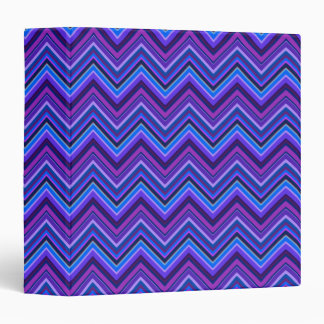 Blue and purple zigzag stripes 3 ring binder