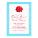 Blue and Red Bridal Shower Invitations Invites