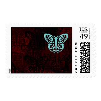 Blue and Red Butterflies Art Postage