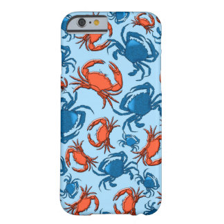 Blue and Red Crabs Collage Barely There iPhone 6 Case