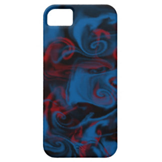 Blue and red curly cue smoke iphone case