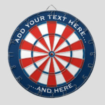 Blue and Red Dartboard with custom text