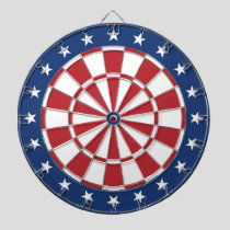 Blue and Red Dartboard with stars