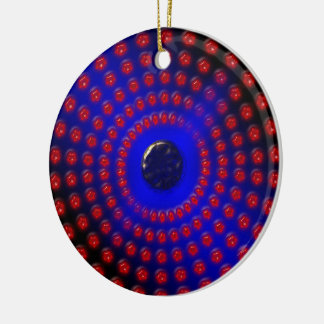 Blue and Red Gemstones Ceramic Ornament
