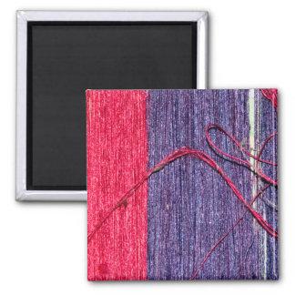 Blue and Red Handmade Thai Silk Magnet