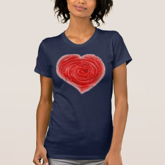 Blue and Red Heart Tee