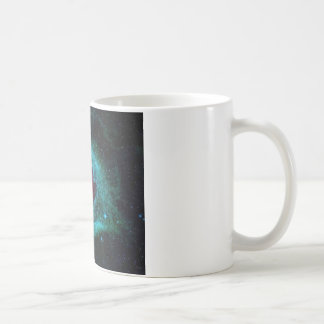 Blue and red helix nebula star cluster coffee mug