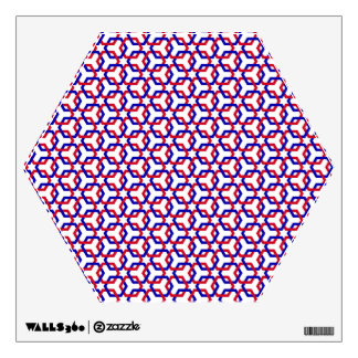 Blue and Red Hexes Wall Decal