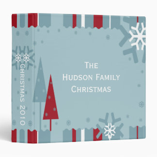 Blue and Red Holiday Photo Album Binder