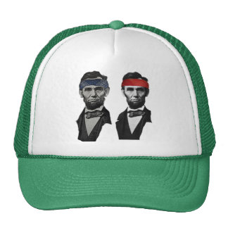 Blue and Red Lincoln Trucker Hat