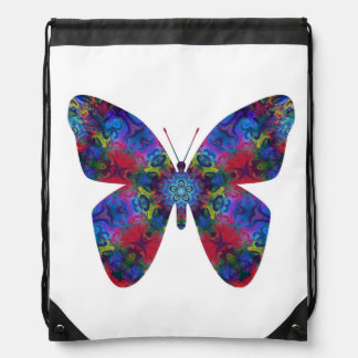 Blue and Red Mandala Fantasy Butterfly Backpacks