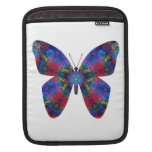 Blue and Red Mandala Fantasy Butterfly Sleeve For iPads