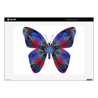 Blue and Red Mandala Fantasy Butterfly Skin For Laptop