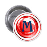 Blue and Red Monogrammed Letter Pins