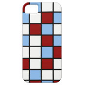 Blue and Red Mosaic Tile Pattern Gifts iPhone 5 Cover