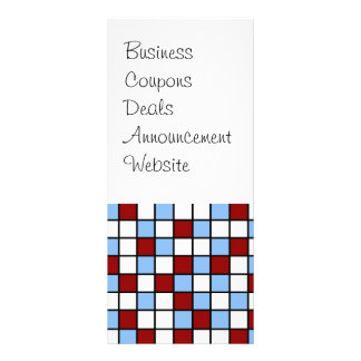 Blue and Red Mosaic Tile Pattern Gifts Rack Card