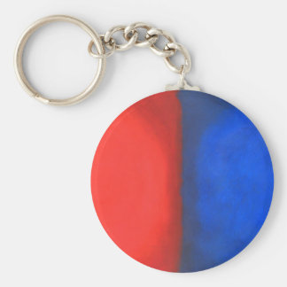 Blue and Red Pastel Conversation Keychain