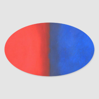 Blue and Red Pastel Conversation Sticker