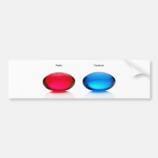 Blue and Red pill bumpersticker Bumper Sticker