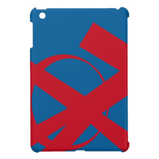 Blue and Red Portal Right Cover For The iPad Mini