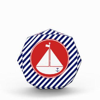 Blue and Red Sailboat Award