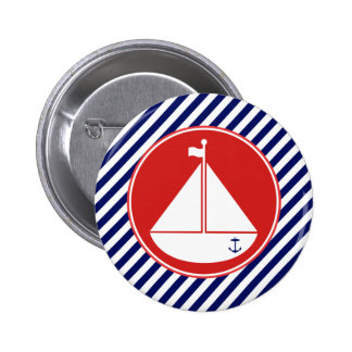 Blue and Red Sailboat Buttons