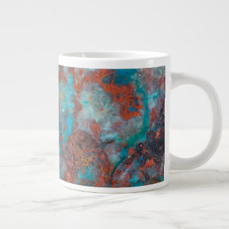 Blue And Red Shattuckite Giant Coffee Mug