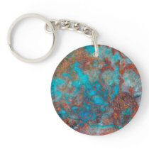 Blue And Red Shattuckite Keychain