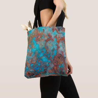 Blue And Red Shattuckite Tote Bag