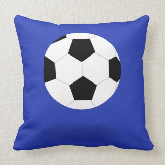 Blue and Red Soccer Ball Graphic Throw Pillow