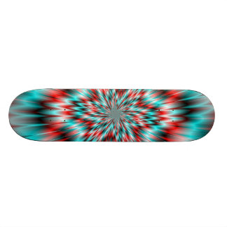 Blue and Red Star Skateboard