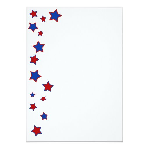 Blue and Red Stars Invitation