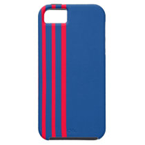Blue and Red-Striped IPhone 5 Case