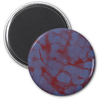 blue and red swirl 2 inch round magnet